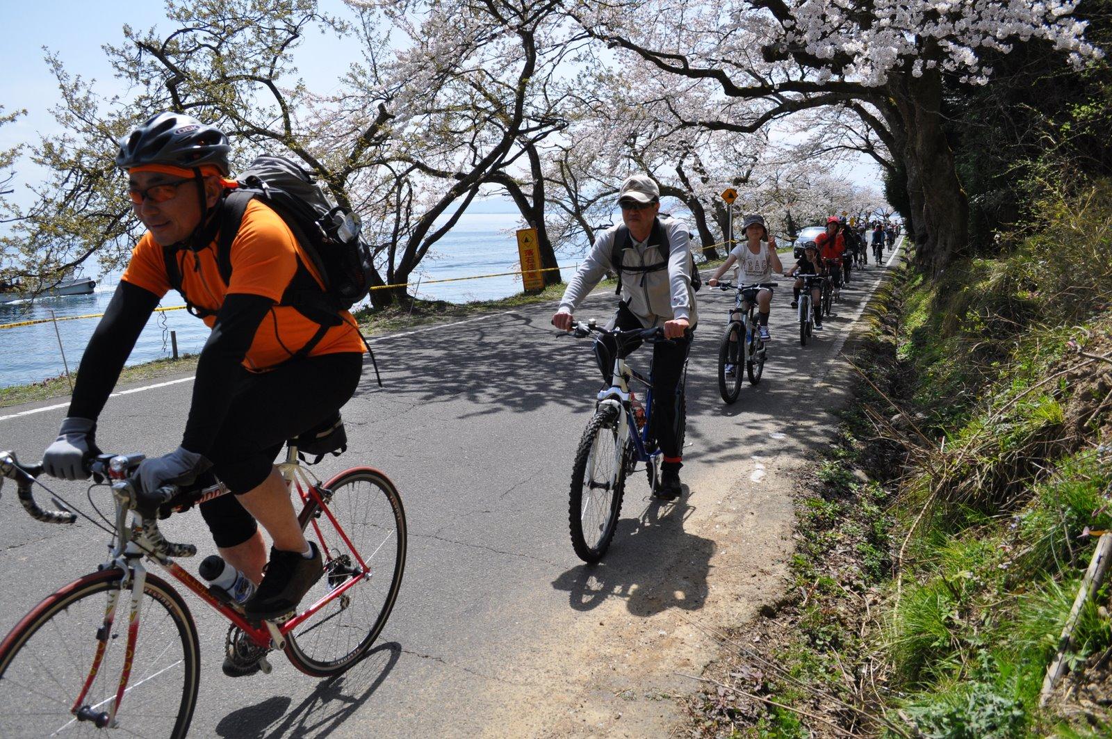 サイクリング隊列
