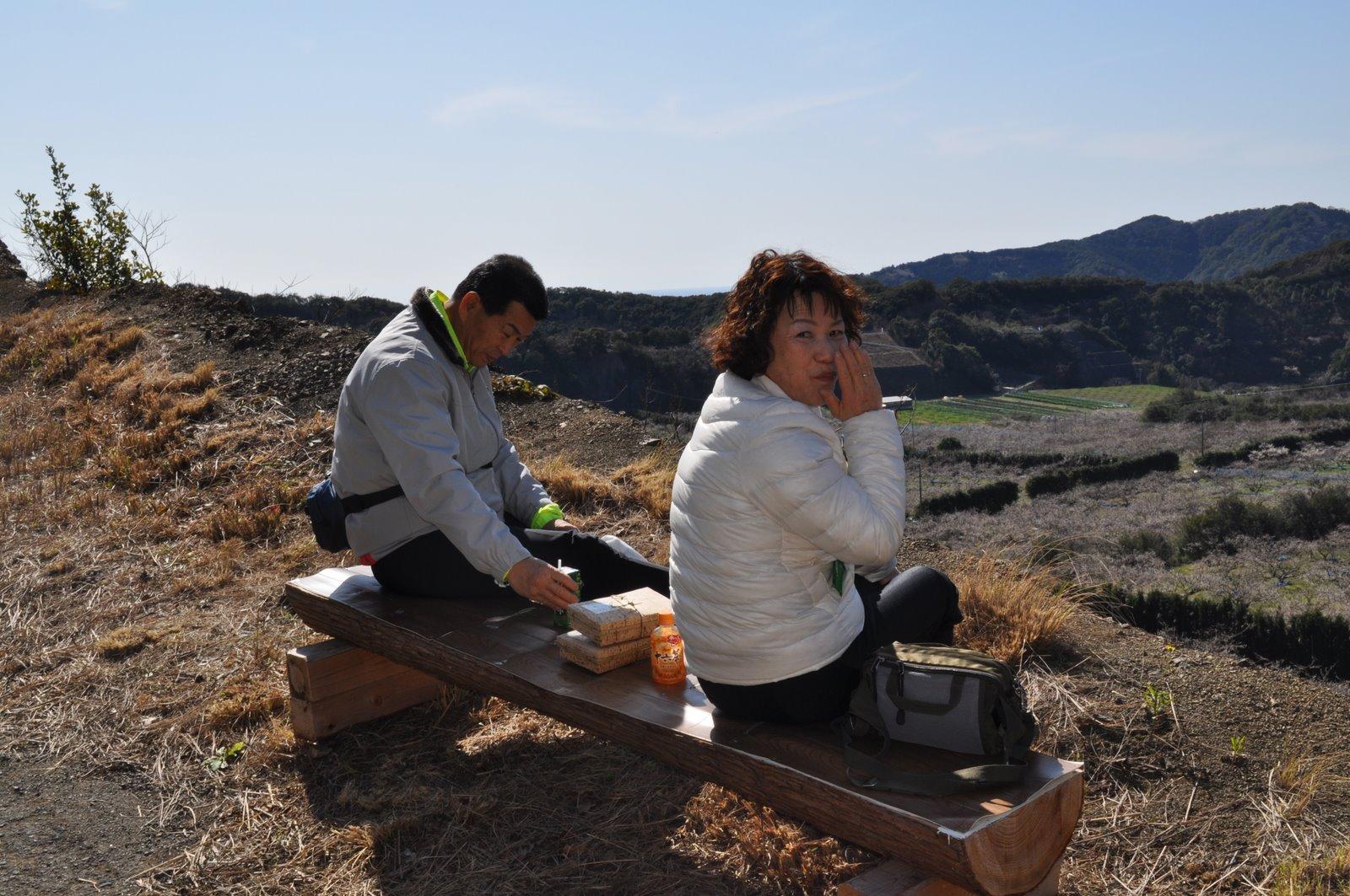 岩代梅林にて昼食